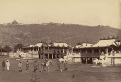 Kyoungs under Mandalay Hill, occupied by Colonel Parsons and the Officers of the 2nd Madras Lancers